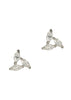 Triangle of marquise cut CZ stud Earrings, high quality CZ, White Gold finish