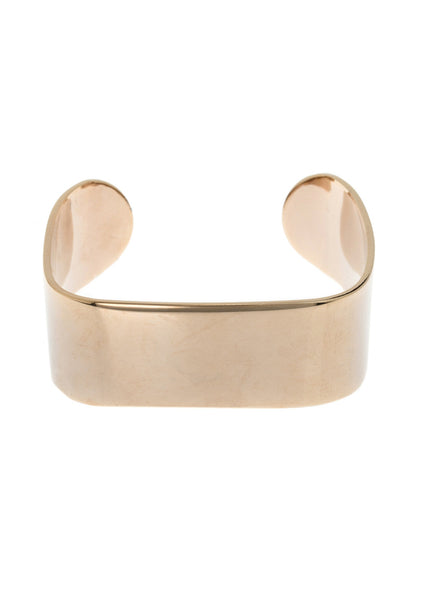 Ultra modern high polish simple cuff bracelet, Antique gold finish