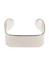 Ultra modern high polish simple cuff bracelet, White gold finish