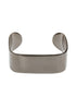 Ultra modern high polish simple cuff bracelet, Gun metal finish
