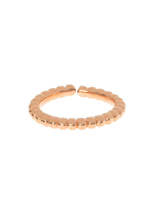 Simple textured bubble adjustable band, great for stacking, Rose gold finish