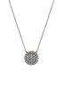 Single hand set micro pave high quality CZ large disc short necklace, Gunmetal finish