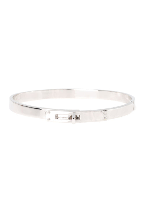Haute Couture hand cuff bangle, Great companion with micro pave high quality CZ version, White Gold finish