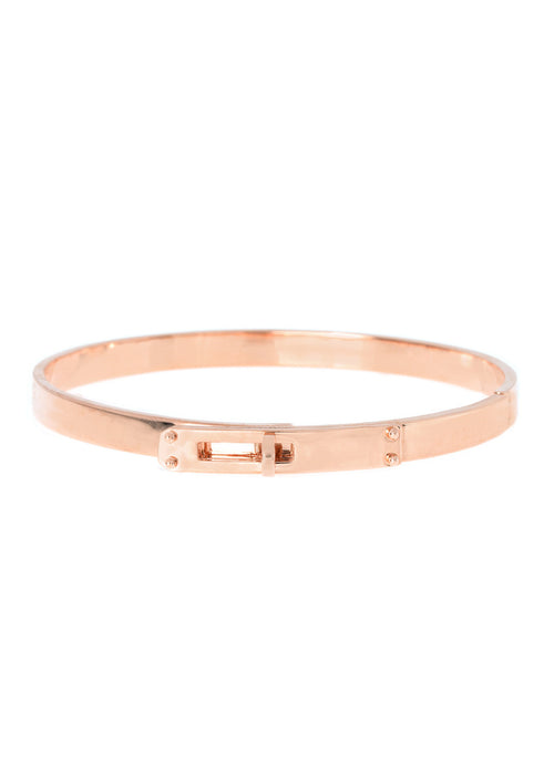 Haute Couture hand cuff bangle, Great companion with micro pave high quality CZ version, Rose Gold finish