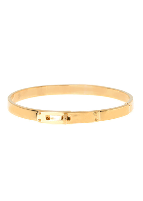 Haute Couture hand cuff bangle, Great companion with micro pave high quality CZ version, Gold finish