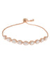 Halo clear Oval cut CZ bracelet hand set in high quality CZ, Rose Gold finish