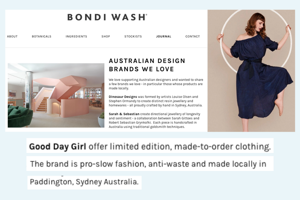 Thank you Bondi Wash!
