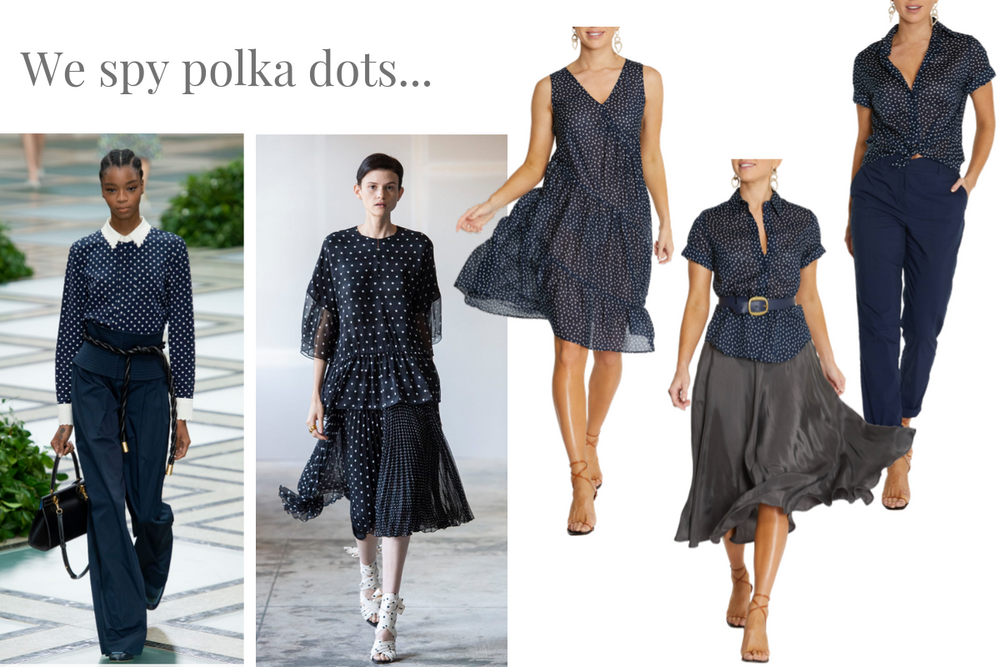 We spy polka dots!