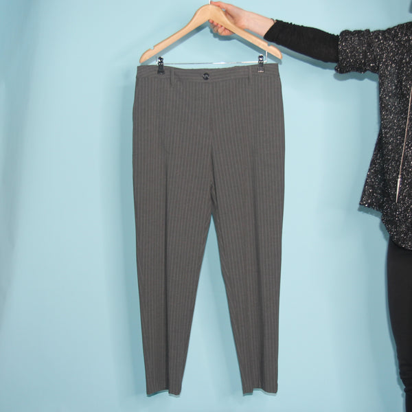 London Pants - Grey Pinstripe - Size 16