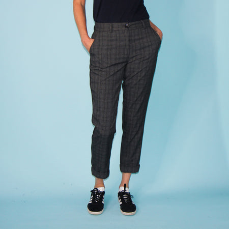 Arecibo Pants - Grey Check - Size 18