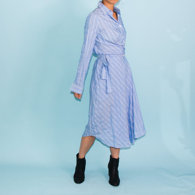 Cayman Shirt Dress - Blue - Size 6