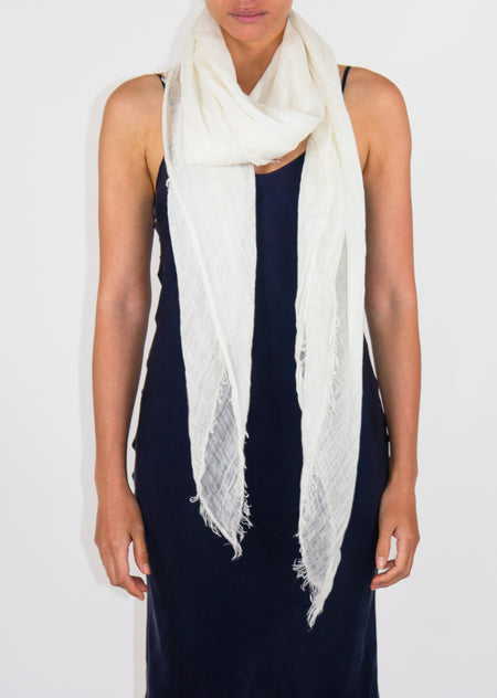 Cloth & Co. Linen Scarf - Winter White