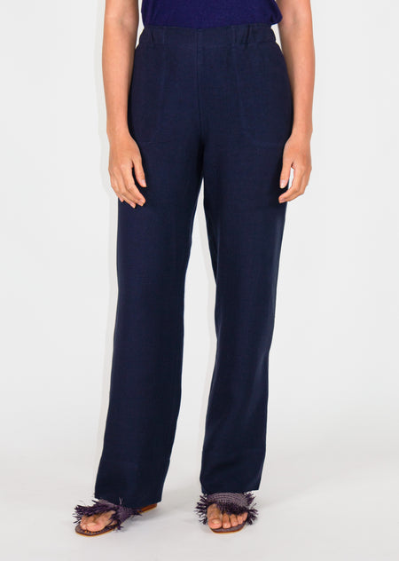 Lido Pants - Navy - Size 8 & 10