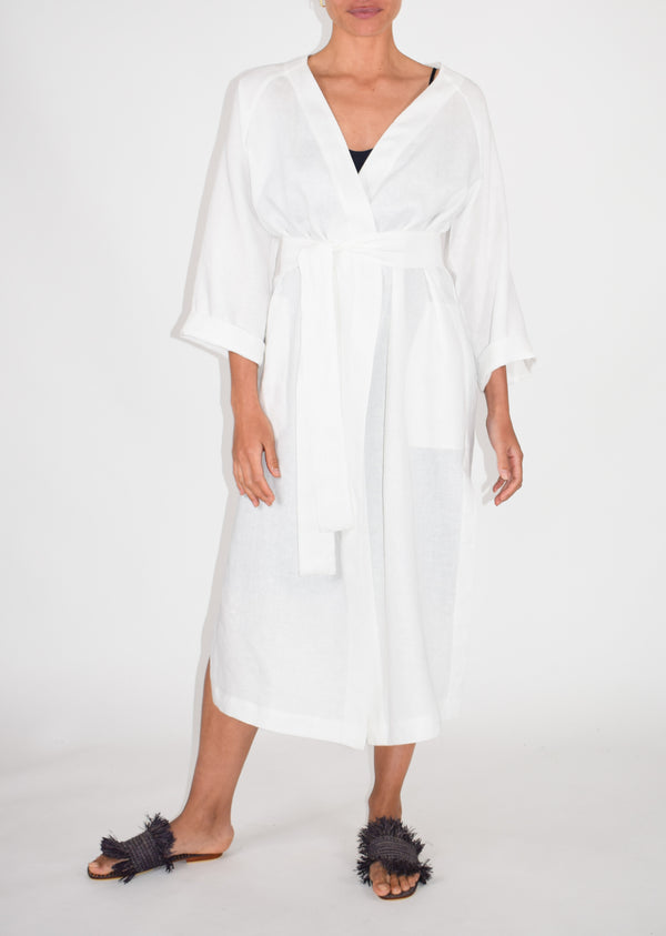 SAMPLE - Long Happy Coat - White - Size 10
