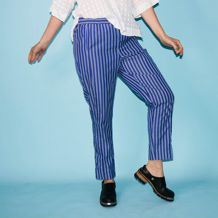 La Playa Pants - Blue Stripe