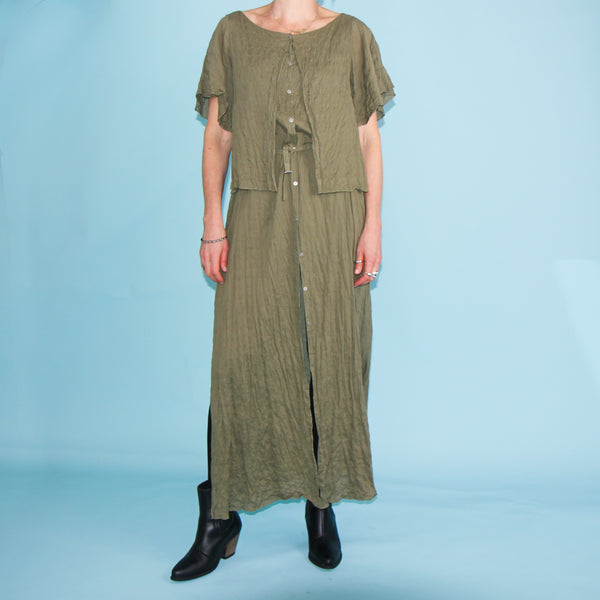Summer Dress - Olive - Size 10