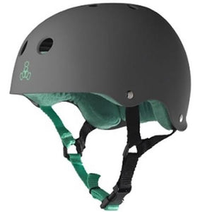 Triple 8 Helmet: Brainsaver Rubberized Carbon Grey