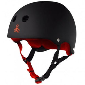 Triple 8 Helmet: Brainsaver Rubberized Black V2