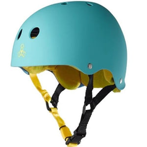 Triple 8 Helmet: Brainsaver Rubberized Teal