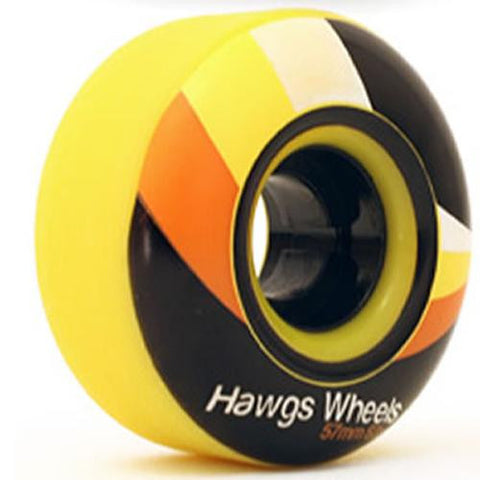 Hawgs Wheels: Street Hawgs 62mm 82a Yellow Wheels- Edge Boardshop