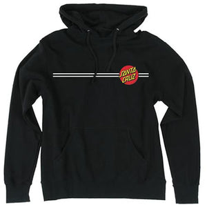 Santa Cruz Sweatshirt: Classic Dot Hoody Black Sweatshirts- Edge Boardshop