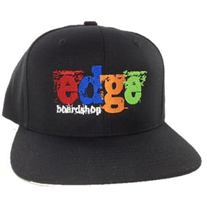 EDGE Hat: Grunge Logo Color Snapback Hats- Edge Boardshop