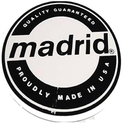"Madrid Sticker: Circle Logo Large 6"" Stickers- Edge Boardshop"