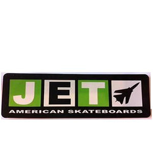 "Jet Sticker: Jet Longboard Logo 4"" Stickers- Edge Boardshop"
