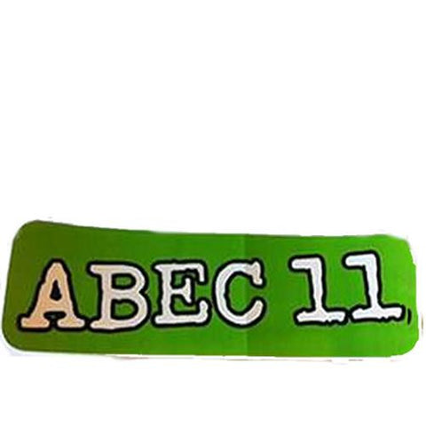 "Abec 11 Sticker: Green Logo 2"" Stickers- Edge Boardshop"