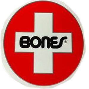 "Bones Sticker: Swiss Circle 7"" Stickers- Edge Boardshop"