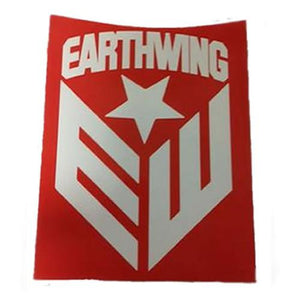 "Earthwing Sticker:  Earthwing EW Logo Red 3"" Stickers- Edge Boardshop"