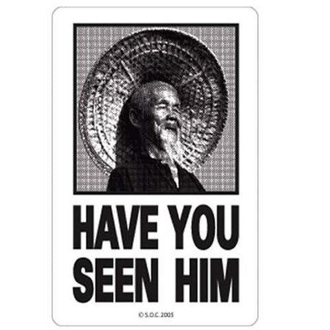 Powell Skateboard Sticker: Have You Seen Him Stickers- Edge Boardshop