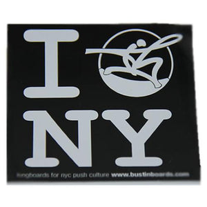Bustin Sticker: Bustin New York Stickers- Edge Boardshop