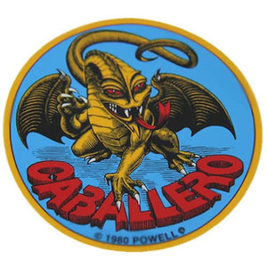 Powell Skateboard Sticker: Caballero Dragon Logo Stickers- Edge Boardshop
