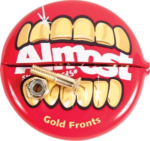 "ALMOST SKATEBOARDS GOLD NUTS & BOLTS 7/8""ALLEN HARDWARE SET"
