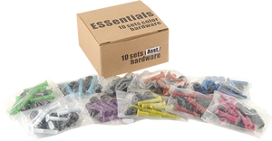 "ESSENTIALS 10/PK ASST.COLOR 1"" HARDWARE ppp"