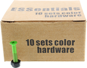 "ESSENTIALS 10/PK GREEN 1"" HARDWARE ppp"