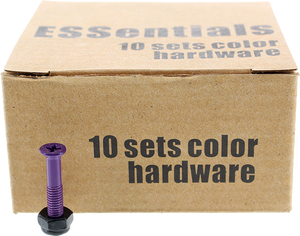 "ESSENTIALS 10/PK PURPLE 1"" HARDWARE ppp"