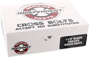 "INDEPENDENT 12/PK 1-1/4"" PHILLIPS BLACK HARDWARE"