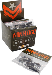 "MINI LOGO 10/PACK HARDWARE 1"" PHILLIPS BLACK"