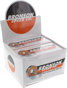 BRONSON G2 BEARINGS 10/PK BOX w/spacers+washers