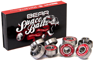 BEAR TRUCKS SPACE BALLS ABEC-7 8mm BEARINGS SIL/RED