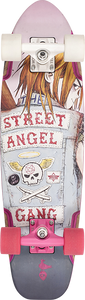 DUSTERS SKATEBOARDS BIRD STREET ANGEL COMPLETE-7.5x27 WHT/PINK