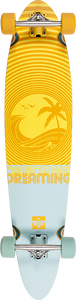 DUSTERS SKATEBOARDS CALIFORNIA DREAMING COMPLETE-9x40 ORG/BLU