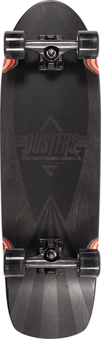 DUSTERS SKATEBOARDS CAZH BLACKED CRUISER COMPLETE-8.75x29.5 BK