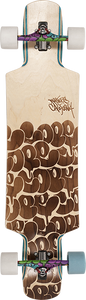 DUSTERS SKATEBOARDS COPE II LB COMPLETE-9.5x38.5 WOOD BURN