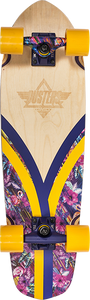 DUSTERS SKATEBOARDS FLASHBACK TRIPPYCAL COMP-7.9x28 NAT/PUR/YL