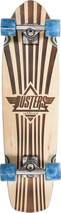 "DUSTERS SKATEBOARDS KEEN RETRO 31"" CRUISER COMPLETE BLUE"