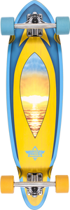 "DUSTERS MINI FIN CRUISER COMPLETE-8.37x31"" SUNSET"