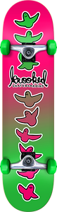 KROOKED SKATEBOARDS BIRDICAL FADES COMPLETE-7.75 PINK/GRN